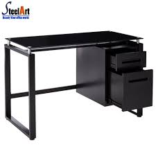Black Tempered Glass Computer Desk Glass Computer Desk Glass Computer Desk Suppliers And