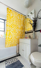 best 25 yellow shower curtains ideas on pinterest yellow kids the yellow shower curtain brightens up this bathroom bjbproperties chicagoapartments eastlakeviewapartments