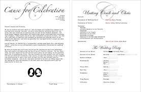 wording of wedding program thank you wedding program c bertha fashion wedding program