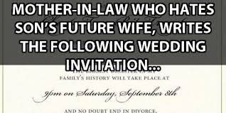 Mother And Son Meme - mother in law who hates her son s future wife writes the