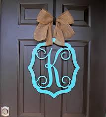 monogram wreath wooden monogram door hanger wreath initial vintage frame burlap