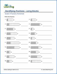 printable fraction worksheets for grade 4 grade 3 fractions and decimals worksheets free printable k5