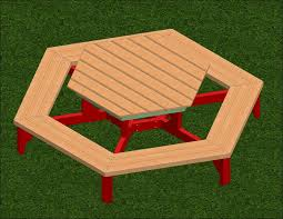 Free Plans Hexagon Picnic Table by Exteriors Gliding Picnic Table Recycled Picnic Benches Table A