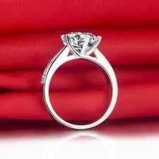 aliexpress buy 2ct brilliant simulate diamond men aliexpress buy 2 ct brilliant cut solid 18k white gold