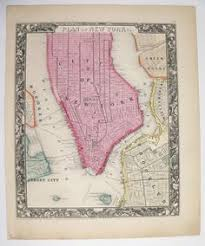 wedding gift nyc 1889 new york city map ny nyc map boston map manhattan