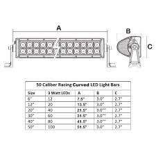 40 inch curved led light bar ip68 waterproof housing with cree