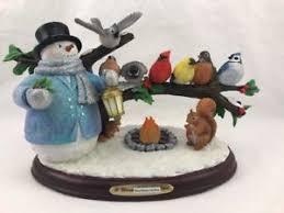 thomas kinkade lighted pictures thomas kinkade lighted musical snowman songbird sculpture a warm