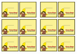 curious george name tags u2013 birthday printable