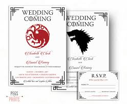 Wedding Invitations And Rsvp Cards Dragon Wedding Invitation And Rsvp Card Wolf Wedding