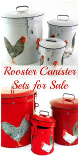 rooster canisters for the kitchen canister sets country