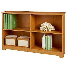 realspace magellan collection 2 shelf sofa bookcase honey maple by