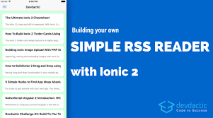 ionic inappbrowser tutorial building your own simple rss reader with ionic devdactic