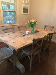 trestle farmhouse table floyd rustic