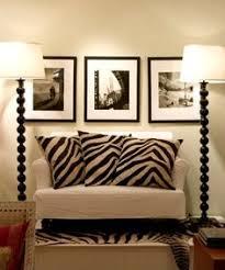 Zebra Print Table Lamp Set Of 2 Two Tone Gold 29