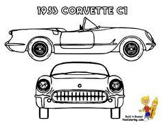 free printout corvette z06 rear view at yescoloring ethnic
