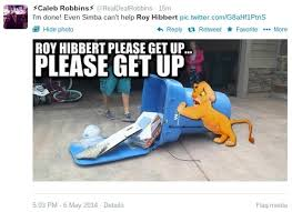Roy Hibbert Memes - fans bash roy hibbert on twitter for poor performance