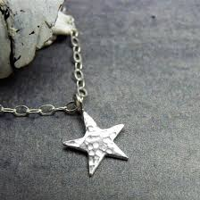silver star necklace pendant images Hammered silver star necklace uk handmade eco silver wearth jpg