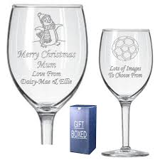 godmother wine glass personalised christmas wine glass engraved with christmas designs