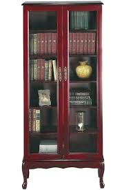 Solid Wood Bookcases With Glass Doors Oak Bookcase With Glass Doors Wood Bookcases With Sliding Glass