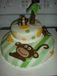monkey baby shower cake
