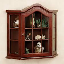 curio cabinet small wallnging curio cabinets oak display