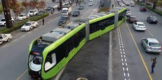 a new u0027trackless electric train u0027 aka a bus starts testing in