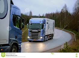 scania trucks next generation scania trucks on test drive editorial stock image