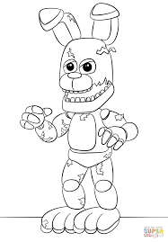 fnaf springtrap coloring page free printable coloring pages