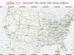Road Map Of United States Download United States Road Map Major Tourist Attractions Maps