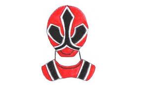 draw red ranger samurai