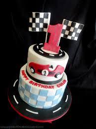 cars birthday cake my pink cake race car theme 1st birthday cake