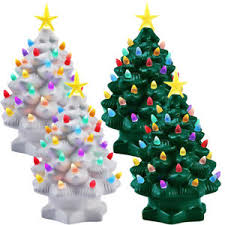 porcelain christmas tree with lights 2pk mr christmas 7 porcelain christmas tree decoration color led