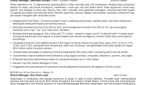 district manager resume restaurant district manager resume the