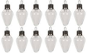 amazon com creative hobbies clear plastic bulb shape ornaments