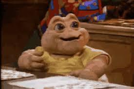 Baby Sinclair Meme - baby sinclair gifs popkey