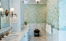 wallpapered bathrooms ideas 11 ways to roll with wallpaper all the home