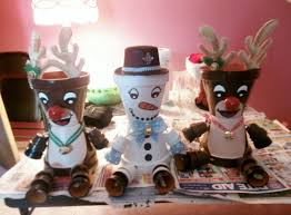 my flower pot rudolph u0027s and snowman i made 11 30 13 my flower