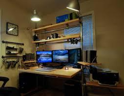 creative ways of custom computer desk for small space indoor