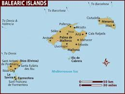map of the islands map of balearic islands