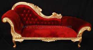 Victorian Chaise Lounge Sofa by Victorian Chaise Gold U0026 Red