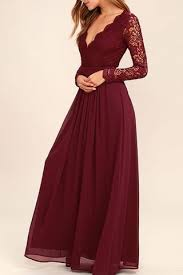 dress cheap burgundy lace sleeves cheap bridesmaid dress prom