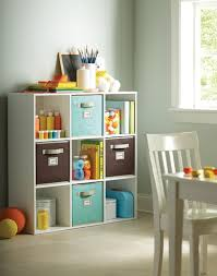 kids room storage bench black red divider shelf multifunctional