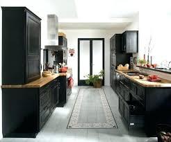 cuisine noir laqué plan de travail bois cuisine noir et bois deco cuisine noir les 25 meilleures idu00e9es