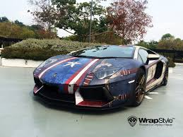 voiture de sport lamborghini 6 voitures de sport aux couleurs des super héros marvel et dc