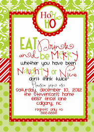 christmas party invitation ideas which various color combination