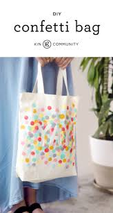 diy confetti tote bag by amytangerine click for video tutorial