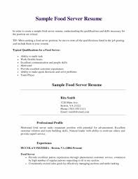Resume Experience Order Server Duties For Resume Cbshow Co