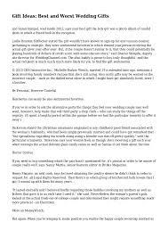 Alternative Wedding Gift Registry Ideas Gift Ideas Best And Worst Wedding Gifts