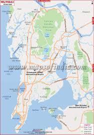 map in road mumbai road map road network of mumbai maps of india