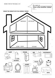 24 free esl house and furniture worksheets